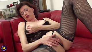 Prisca is a hairy, British ecumenical who likes to rub her pussy on the couch