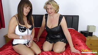 Super hot massage and lesbian masturbation be incumbent on two milfs fingring