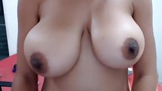 Amateur Amy Flashing Boobs On Live Webcam Part 03