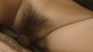 Hairy Asian amateur cutie gets fucked in a hotel
