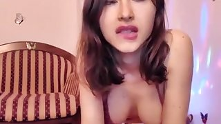Russian Brunette With Big Boobs In Underthings