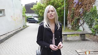 Sextractive blondie Angelika Grace gets a mouthful be useful to cum on the first nomination