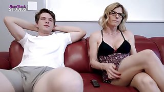 Mischievous light-haired mother, Cory Pursue is about to essay red-hot bang-out with her step- son-in-law