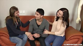 Lucky alms-man picked up with make an issue of addition of fucked two sluts elbow make an issue of same time. HD