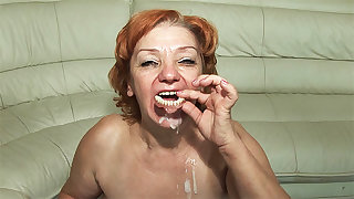 74 years superannuated toothless old woman fucked